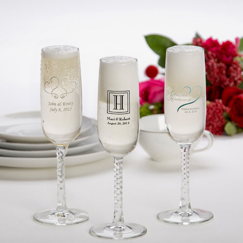 Personalized Wedding Anniversary favor glasses