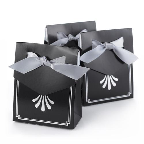 Ailver Anniversary Art Deco Favor Boxes