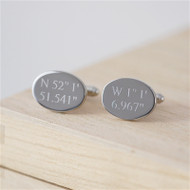 Personalized Silver Plated Coordinate Cufflinks