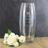 Personalized 25th Anniversary Vase