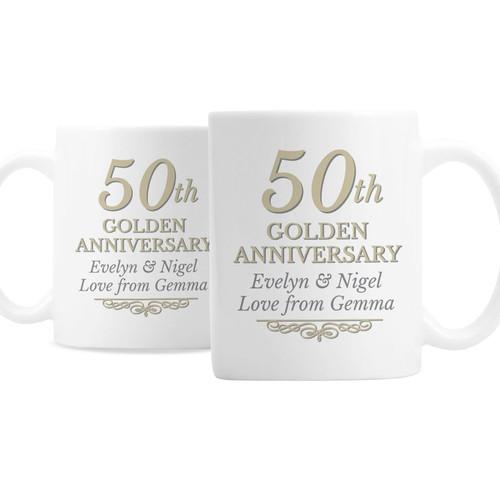 Personalized 50th Anniversary Mug Set