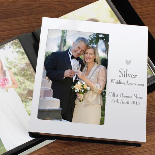 Personalized Silver Anniversary Photo Album