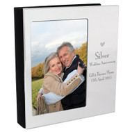 Personalized Silver Anniversary Photo Frame Album