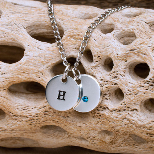 Personalized anniversary charm necklace.