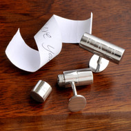 Secret love note - anniversary cufflinks