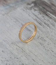 Diamond eternity ring in yellow gold