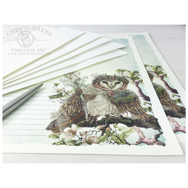 Aveline Owl Letter Writing Set