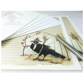 Captivating Crow Stationery Design Collection