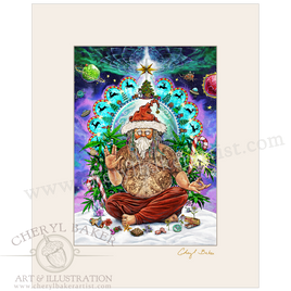 Bohemian Santa with Lovely Mat