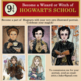 Commissioned Portrait - Become a Wizard or Witch of Hogwarts