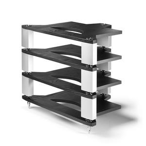 Naim FraimLite HiFi Rack - 1xBase, 3xLevels (Standard) Black Platform with aluminium Fraim legs Silver
