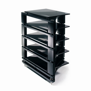 Please note image is for illustrative purposes only. Sale is for The Naim Fraim Standard Equipment Support System 3x Standard Shelf 1 x Base in Black / Black