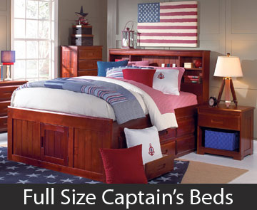 Full Size Captain's Beds