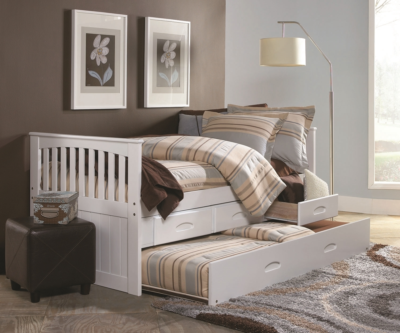 Cambridge Captains Trundle Bed | Kids Furniture Warehouse
