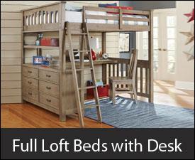 Full Loft Beds with Desk