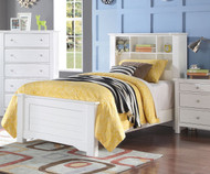 Mallowsea Bookcase Bed Twin Size White | Acme Furniture | ACM-30410T