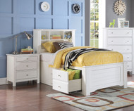 Mallowsea Bookcase Storage Bed Full Size White   Acme Furniture   ACM-30415F
