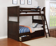 Allen House Brandon Bunk Bed Weathered Espresso
