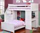 Allen House Student Loft Bed with Stairs White   Allen House   AH-SL-TT-01-STR