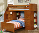 Allen House Student Loft Bed with Stairs White | 23746 | AH-SL-TT-01-STR