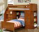 Allen House Student Loft Bed with Stairs White   23746   AH-SL-TT-01-STR