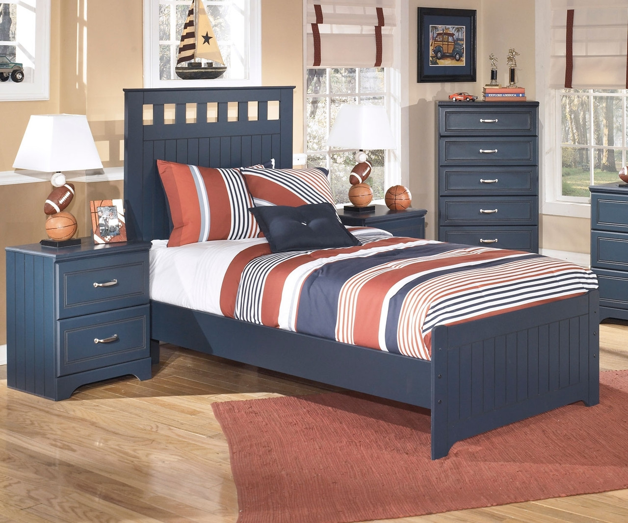 Leo B103 Twin Size Panel Bed