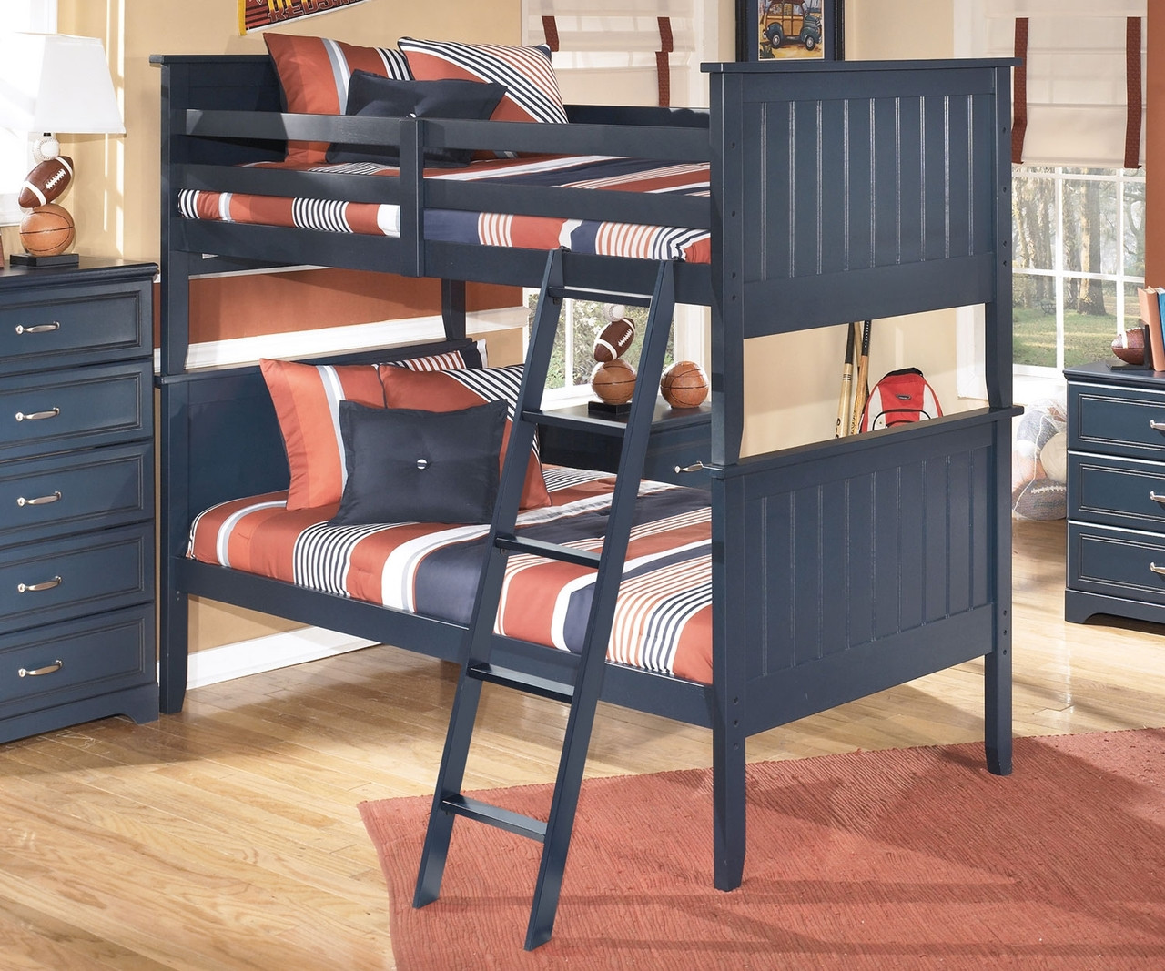 Leo B103 Twin Size Bunk Bed Ashley Kids Furniture Boys Bedroom