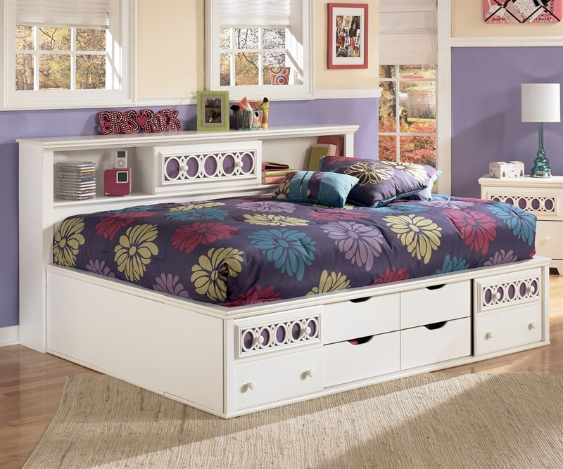 best authentic 68750 d0d2b Zayley Bookcase Storage Bed Full Size