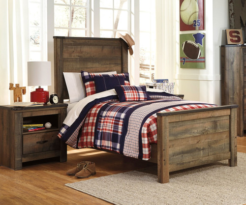 Trinell Panel Bed Twin Size | Ashley Furniture | ASB446-525383