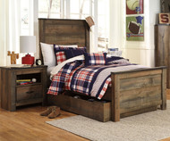Trinell Panel Bed with Trundle Twin Size   Ashley Furniture   ASB446-525383X
