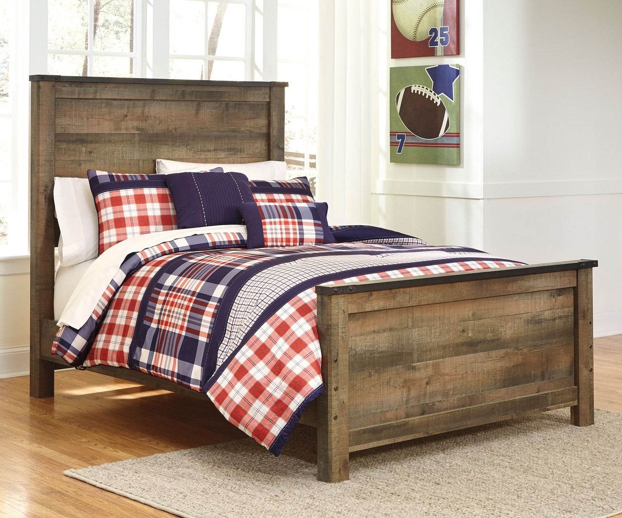 Picture of: Trinell B446 Full Size Panel Bed Ashley Kids Furniture Boys And Girls Bedroom Furniture