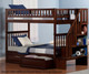 Woodland Stair Bunk Bed Antique Walnut | 24066 | ATL-AB56604