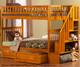 Woodland Stair Bunk Bed Caramel Latte | 24067 | ATL-AB56607
