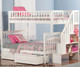 Woodland Stair Bunk Bed Twin over Full White | 24068 | ATL-AB56702