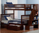 Woodland Stair Bunk Bed Twin over Full Antique Walnut | 24069 | ATL-AB56704