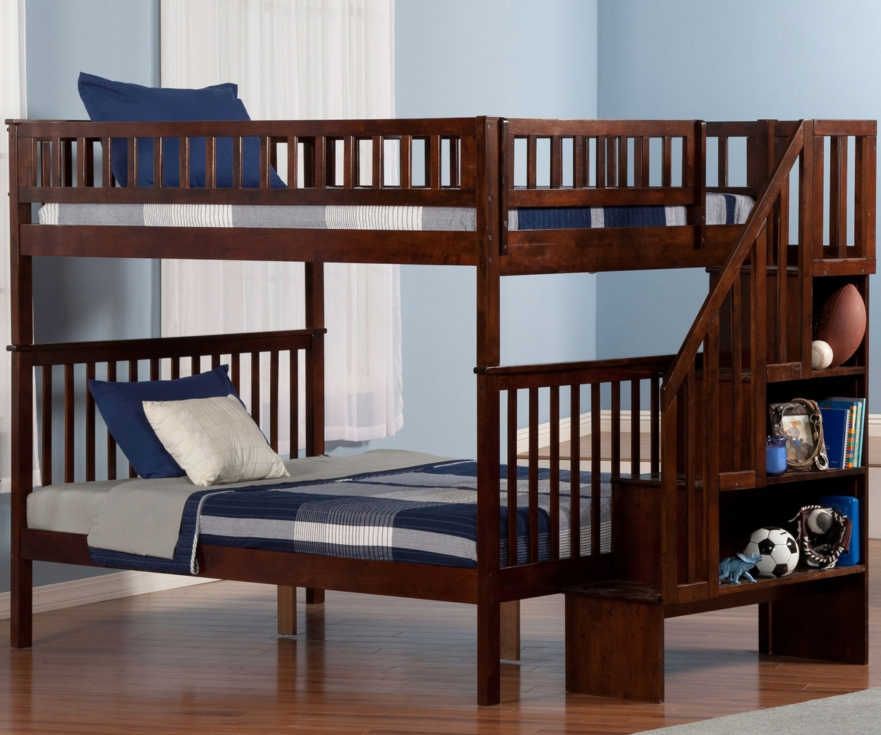 Woodland Full Over Full Stair Bunk Bed Ab56804 Kfw