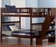 Woodland Stair Bunk Bed Full over Full Antique Walnut | Atlantic Furniture | ATL-AB56804