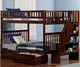 Woodland Stair Bunk Bed Full over Full Antique Walnut | 24072 | ATL-AB56804