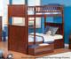 Nantucket Bunk Bed Antique Walnut   24075   ATL-AB59104