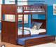 Nantucket Bunk Bed Antique Walnut   Atlantic Furniture   ATL-AB59104