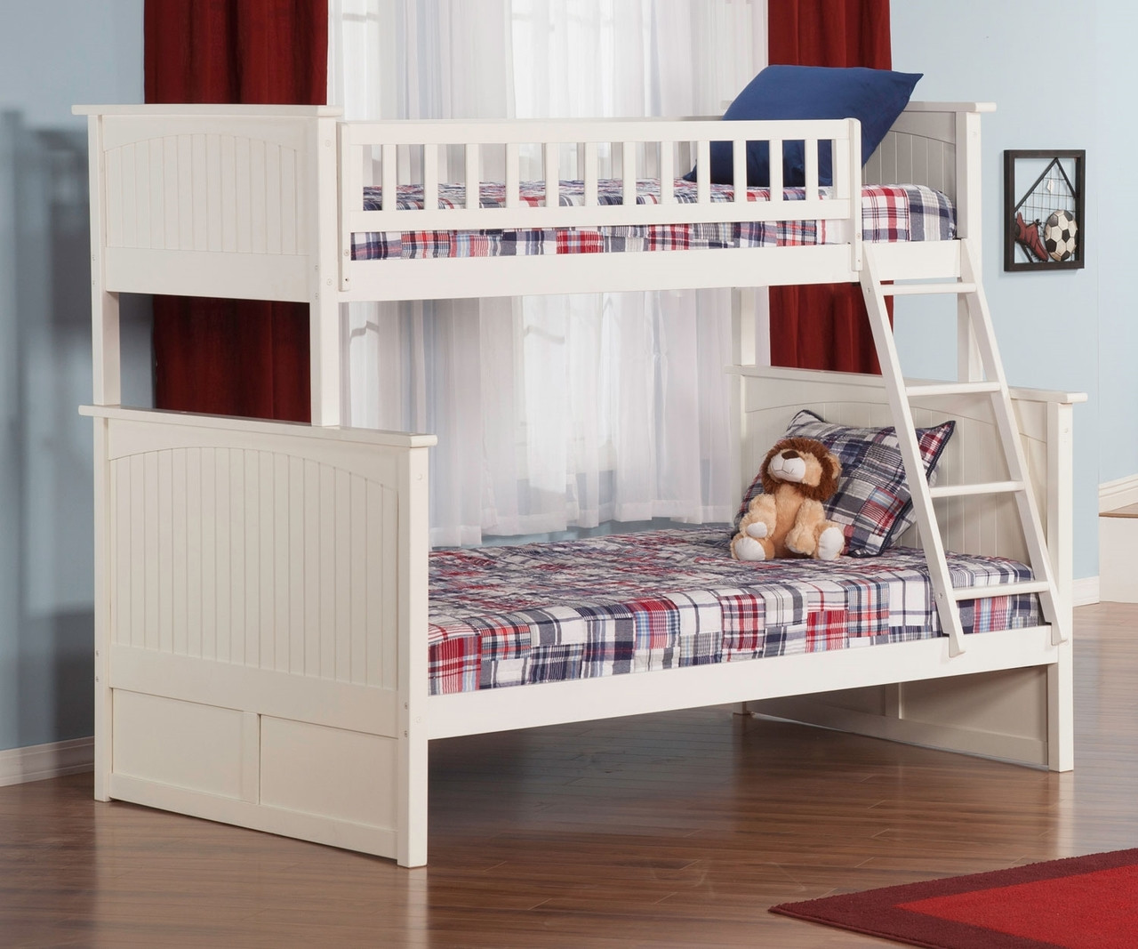 Nantucket Bunk Bed Twin Over Full White