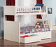 Nantucket Bunk Bed Twin over Full White | 24078 | ATL-AB59202
