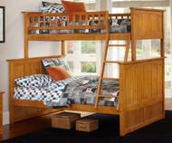 Nantucket Bunk Bed Twin over Full Caramel Latte | Atlantic Furniture | ATL-AB59207