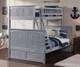 Nantucket Twin over Full Bunk Bed Driftwood Grey | Atlantic Furniture | ATL-AB59208
