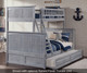 Nantucket Twin over Full Bunk Bed Driftwood Grey | 24081 | ATL-AB59208