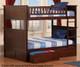 Nantucket Bunk Bed Full over Full Antique Walnut | Atlantic Furniture | ATL-AB59504