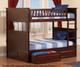 Nantucket Bunk Bed Full over Full Antique Walnut | 24083 | ATL-AB59504