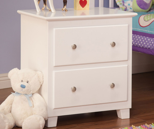Atlantic Nightstand White   Atlantic Furniture   ATL-C-68202