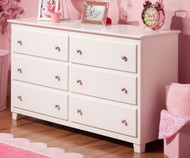 Atlantic 6 Drawer Dresser White | Atlantic Furniture | ATL-C-68652