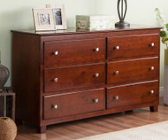 Atlantic 6 Drawer Dresser Antique Walnut | Atlantic Furniture | ATL-C-68654